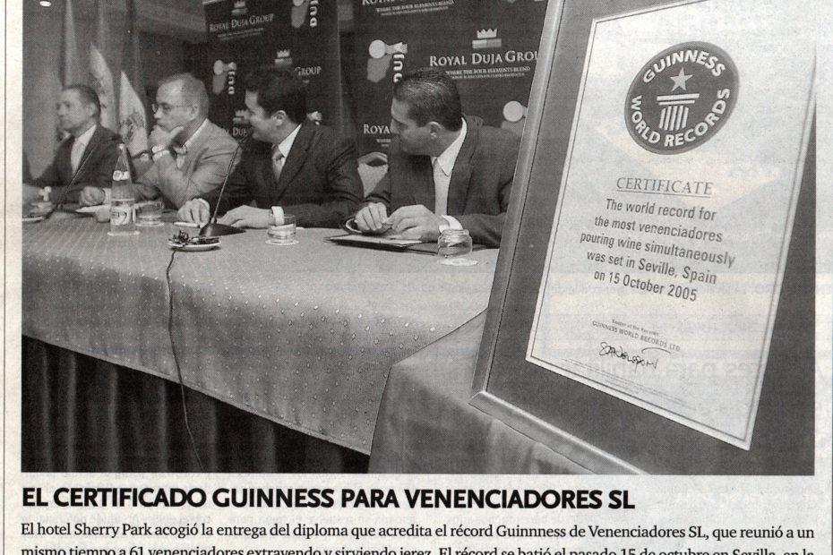 certificado guinness